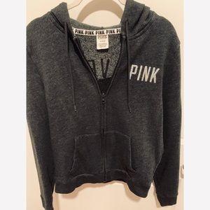 Victoria's Secret PINK Bling Zip Up Hoodie